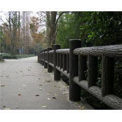 景區仿木欄桿安裝、濟南仿木欄桿、安徽美森仿木欄桿圖片