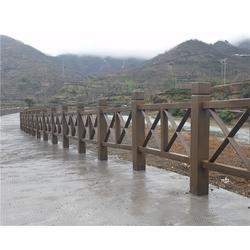 合肥仿木栏杆,安徽美森,景观仿木栏杆厂家图片