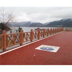 合肥栏杆_安徽美森园林景观_水泥仿木栏杆图片