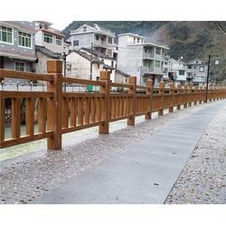 景区仿木栏杆厂家-安徽美森公司-南昌栏杆图片