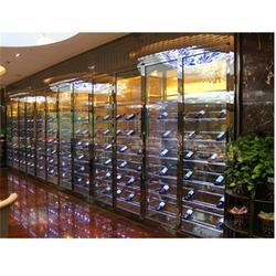 国华泰金属加工 玫瑰金不锈钢酒柜-定海区不锈钢酒柜图片