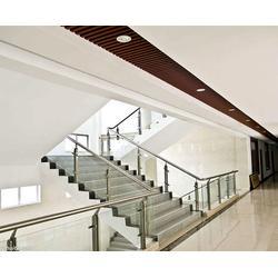 复式楼玻璃楼梯_杭州美家楼梯_下沙区玻璃楼梯图片