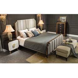 简约实木美式床、美式床、卫诗理美式床(图)图片