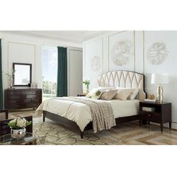真牛皮欧式床、青山区欧式床、卫诗理家具(查看)图片