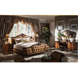 美式床、卫诗理家具(在线咨询)、1.5美式床图片