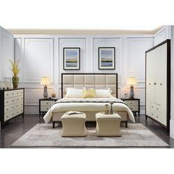 美式床_卫诗理美式床_美式实木床白蜡木图片