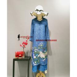 大码女装厂家品牌女装折扣走份拿货图片