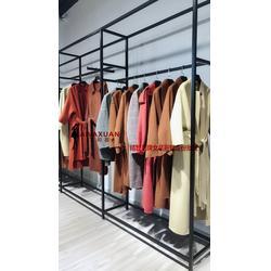 西域玫瑰双面尼 17冬品牌女装库存  品牌折扣店女装进货渠道图片