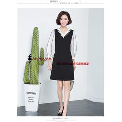 时尚女装 OSMJ 17秋品牌尾货库存 大码女装连衣裙一手货源图片