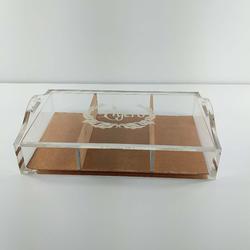 掀盖式有机玻璃盒子定制厂家 首饰小物品收纳盒加工 粤丰图片