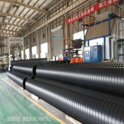 埋地排水用钢带增强聚乙烯PE螺旋波纹管HDPE钢塑复合缠绕管图片