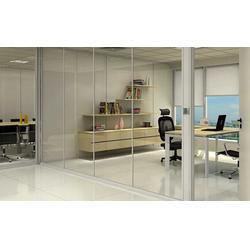 福州办公玻璃隔断安装、福州万喜得玻璃、福州办公玻璃隔断图片