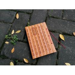 高端生态环保竹片A5笔记本 高端本册定制厂家-百首专业OEM定制图片