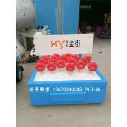 生产华阳商业街路标指示模型玻璃钢景观雕塑图片
