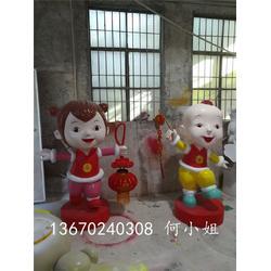 春节玻璃钢材质吉祥卡通雕塑 港粤雕塑厂家图片