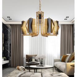 美式简约镀金水晶吊灯酒店别墅家居用灯图片