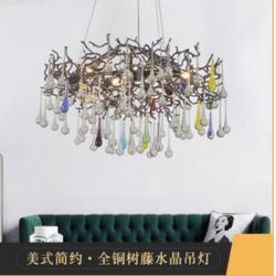 非标定制全铜水晶吊灯