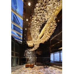 售楼部大厅集成水晶吊灯琉璃吊灯图片