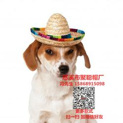 详细说明 狗狗帽子宠物帽定做宠物用品加工厂宠物礼品生产厂家聚聪帽厂图片