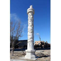鼎扬玉雕厂家直销 文化石柱雕刻-桃园石柱雕刻图片