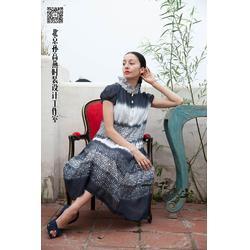 一花无尘(图)、中国元素宴会连衣裙、连衣裙图片