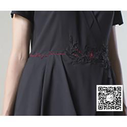 拼接连衣裙定制_连衣裙_一花无尘图片