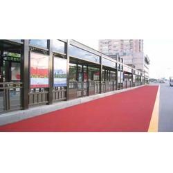 冷喷彩色沥青施工工艺彩色路面硅基雾封层图片