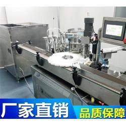 伺服眼药水理瓶灌装(上内塞)旋盖机,PLC控制操作,灌装量精确,数控加工中心零件,装配紧密,使用寿命长图片