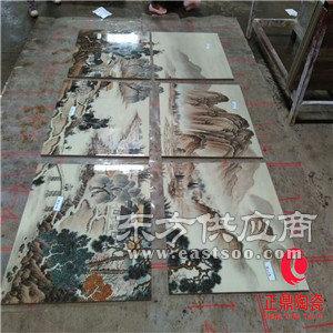 背景镶嵌瓷板画定做 新农村文化墙镶嵌瓷板画图片