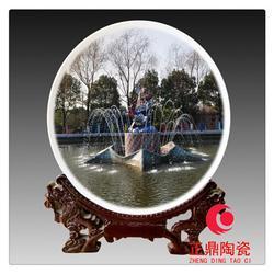 照片结合陶瓷纪念盘 结婚照片纪念盘定做图片