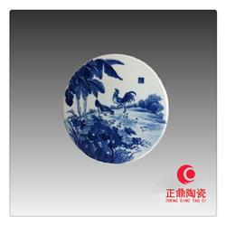 扇形瓷板画镶嵌 圆形瓷板画镶嵌 椭圆形瓷片镶嵌图片