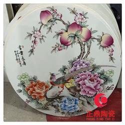 圆形瓷板画背景墙定做 圆形学校文化墙瓷板画定制图片