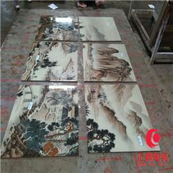 定制文化墙图案瓷板画 定做背景墙图案瓷板画图片