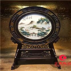 瓷器瓷板画双面 瓷器瓷片厂家 贴花艺术瓷板画图片