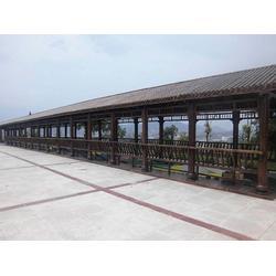 巴中防腐木长廊,古韵防腐木(在线咨询),防腐木长廊图片