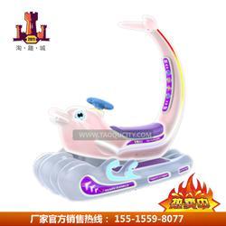 2018超级新款游乐设备好好玩海豚大白鲸儿童电瓶车亲子双人坐图片
