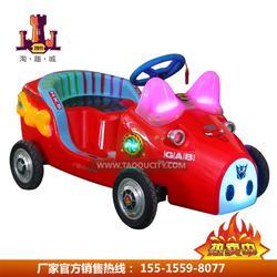 厂家直供广场儿童QQ游乐车广场公园首选好好玩QQ猪电瓶车定时遥控图片