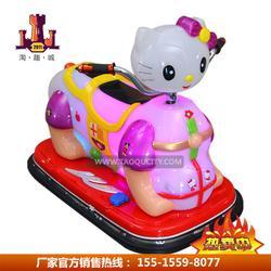 广场儿童KT猫游乐车双人亲子水晶猫电瓶车厂家供货一件代发图片