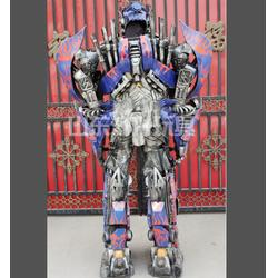 哈密地区大型擎天柱可穿戴变形金刚 济升玩具厂家直销