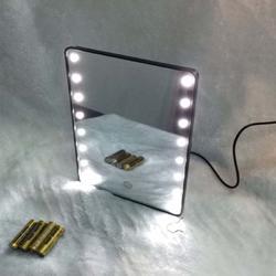 新款智能镜子led化妆镜 折叠支架镜发光镜 智能触摸可调光发光镜图片
