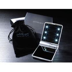 美容补装镜子 8颗led发光镜子 折叠化妆镜随身带灯镜图片