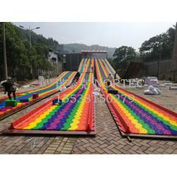 游乐场好项目彩虹滑道诺泰克旱雪滑道厂家一站式服务图片