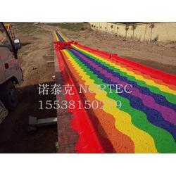 四季经营项目彩虹滑道,生产安全系数高的七彩滑道厂家图片