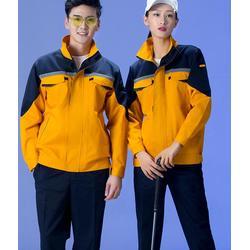 番禺区男工厂车间工作服套装定做,耐磨长袖工衣工作服定制,厂家直销图片