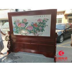 实木画框瓷板画定做 古色古香瓷板画定做图片