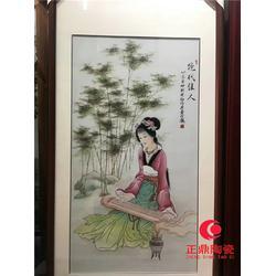 瓷板画的 瓷板画的样板 家中墙壁瓷板画定做图片
