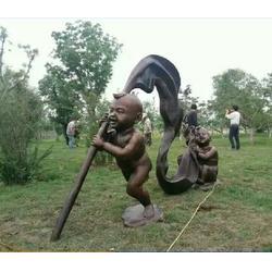铸铜雕塑小孩工厂图片