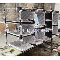 芝麻开门专业加工定做不锈钢展示架,置物架,不锈钢货物架图片