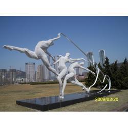 白钢雕塑哪家好-鸡西白钢雕塑-启龙雕塑-雕刻人生图片