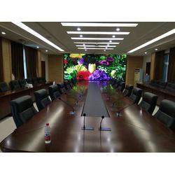 室内P2全彩led显示屏模组三合一单元板32扫128乘128图片